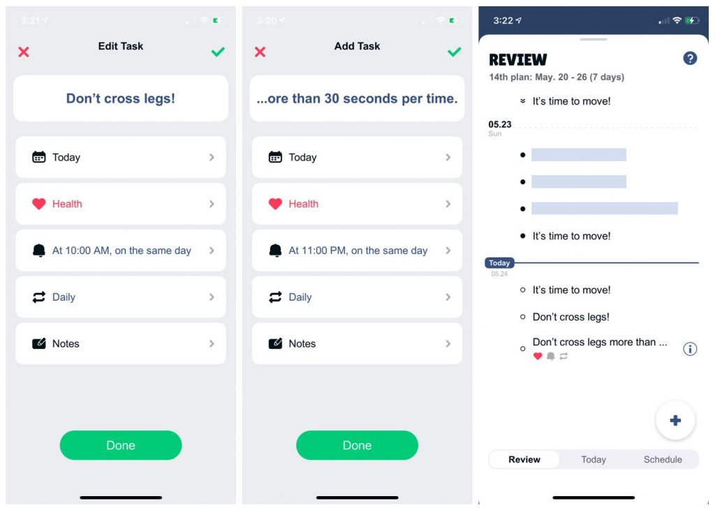 to-do app setting